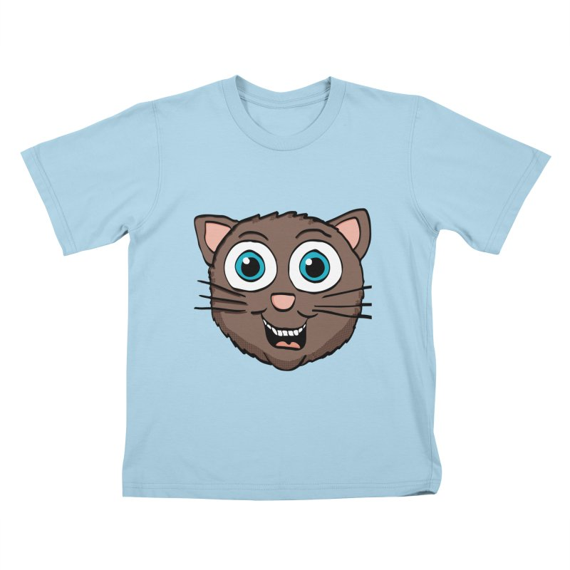 Cute Brown Kitty Kids T-shirt by ericallen's Artist Shop