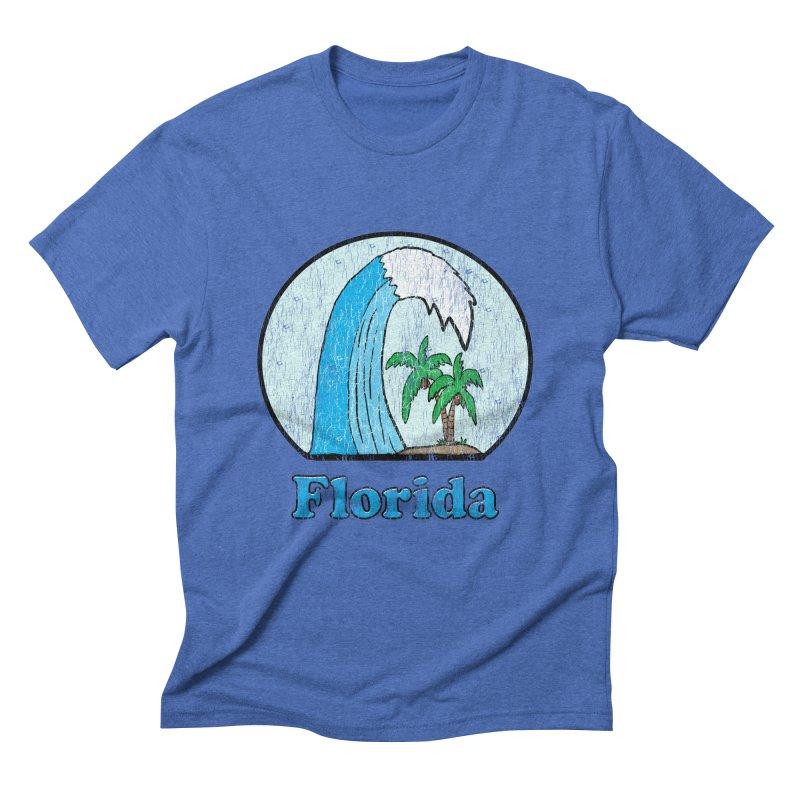 Vintage Florida Logo  Men's Triblend T-Shirt by ericallen's Artist Shop