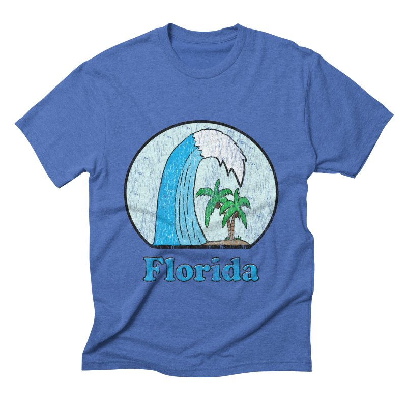 Vintage Florida Logo  Men's Triblend T-shirt by ericallen's Artist Shop