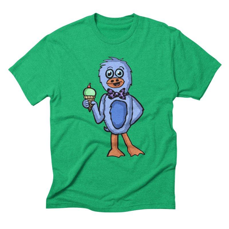 Sweet Tooth Penguin  Men's Triblend T-Shirt by ericallen's Artist Shop