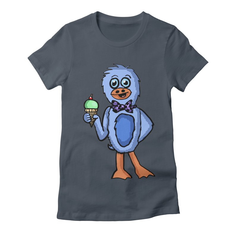 Sweet Tooth Penguin  Women's Fitted T-Shirt by ericallen's Artist Shop