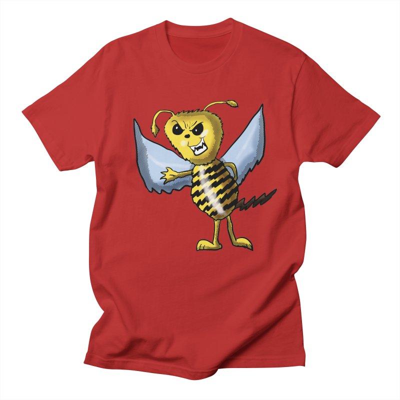 Evil Bee in Men's T-shirt Red by ericallen's Artist Shop