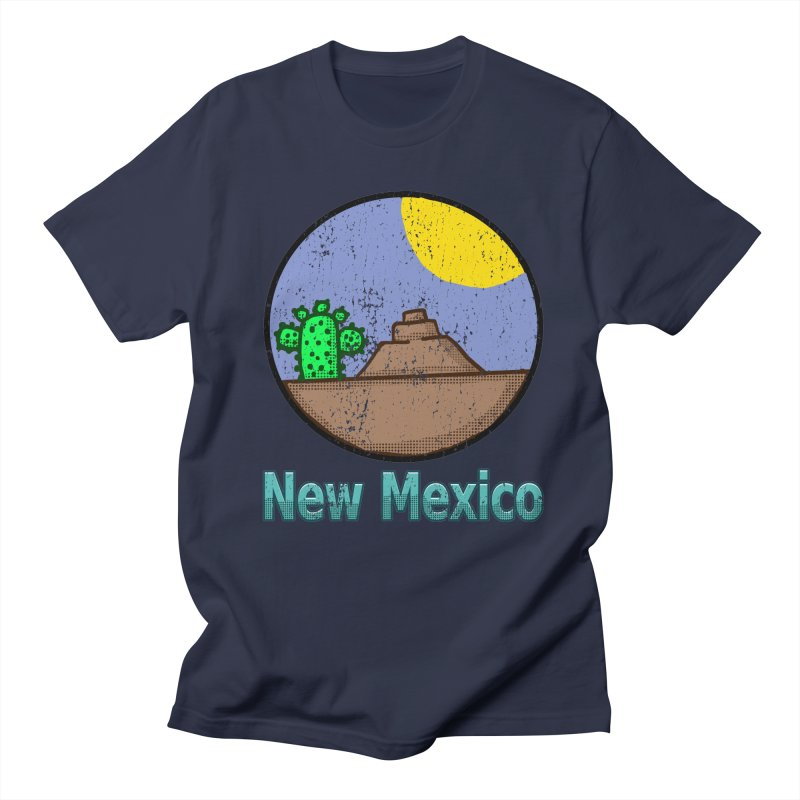 Vintage New Mexico Graphic  in Men's T-shirt Navy by ericallen's Artist Shop