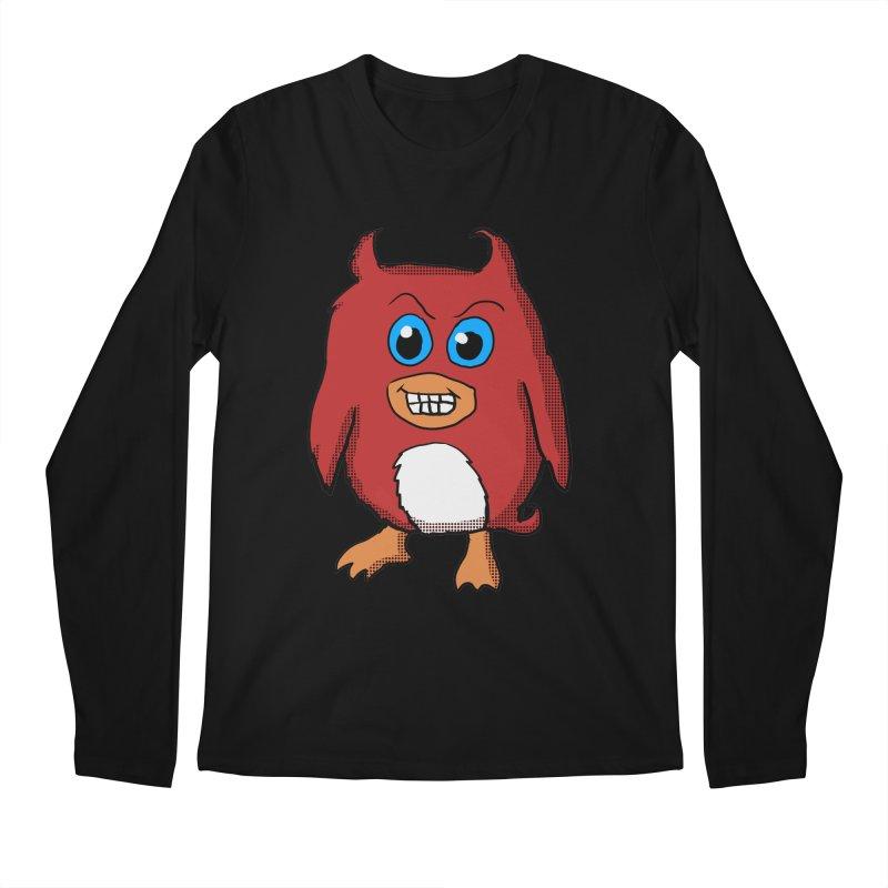 Cute Evil Red Penguin Men's Longsleeve T-Shirt by ericallen's Artist Shop