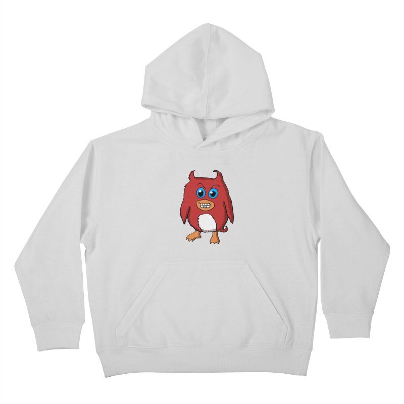 Cute Evil Red Penguin Kids Pullover Hoody by ericallen's Artist Shop