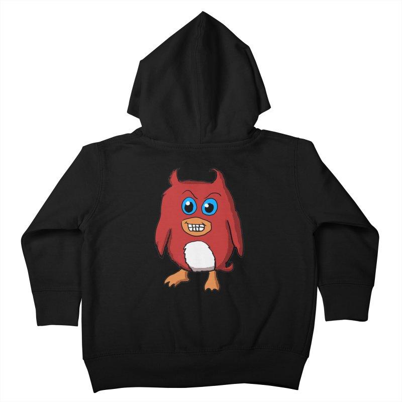 Cute Evil Red Penguin Kids Toddler Zip-Up Hoody by ericallen's Artist Shop
