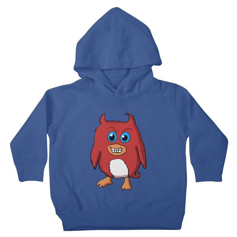 Cute Evil Red Penguin Kids Toddler Pullover Hoody by ericallen's Artist Shop