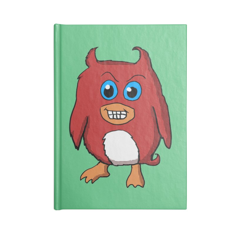 Cute Evil Red Penguin Accessories Notebook by ericallen's Artist Shop