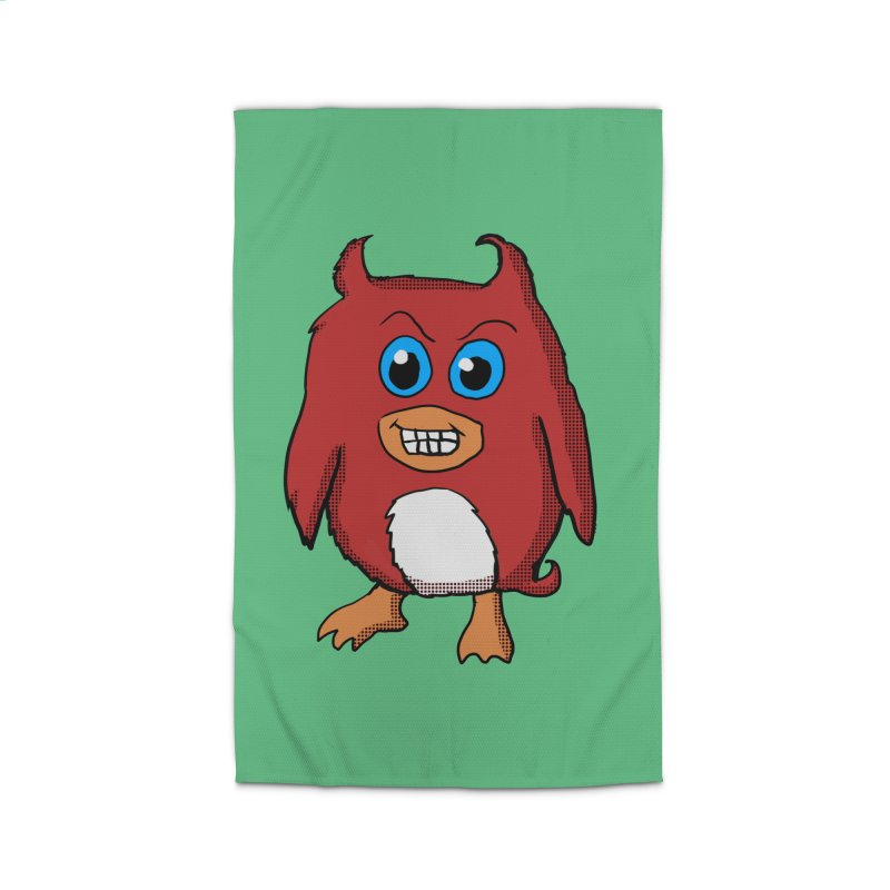 Cute Evil Red Penguin Home Rug by ericallen's Artist Shop