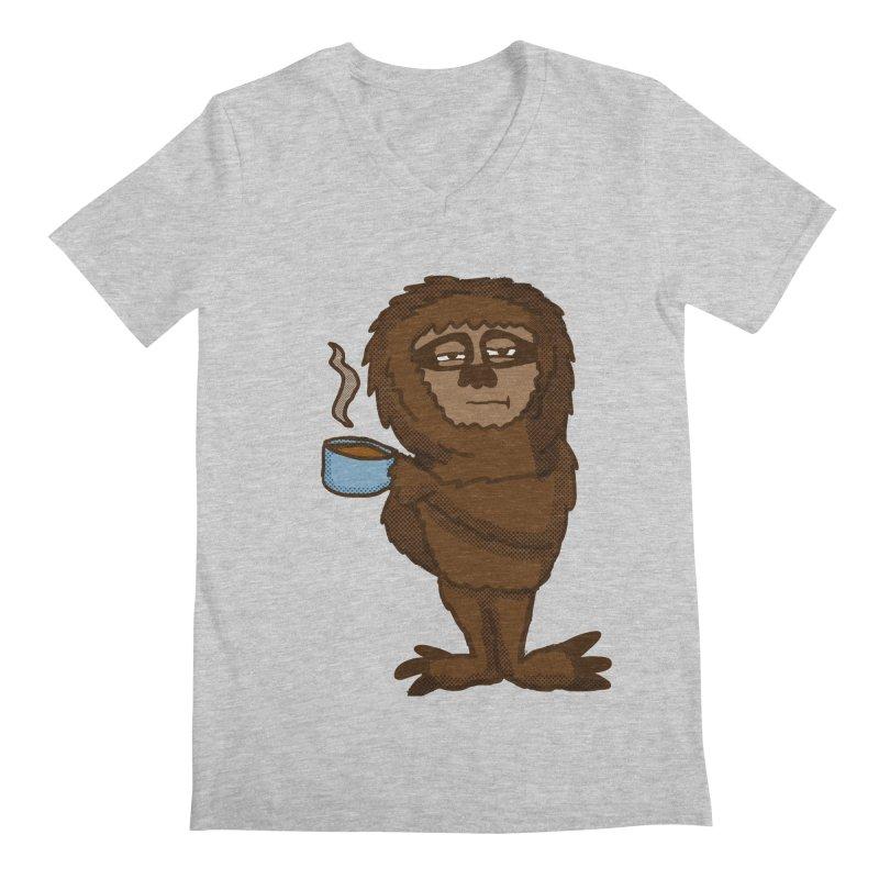 Groggy Sloth  Men's V-Neck by ericallen's Artist Shop
