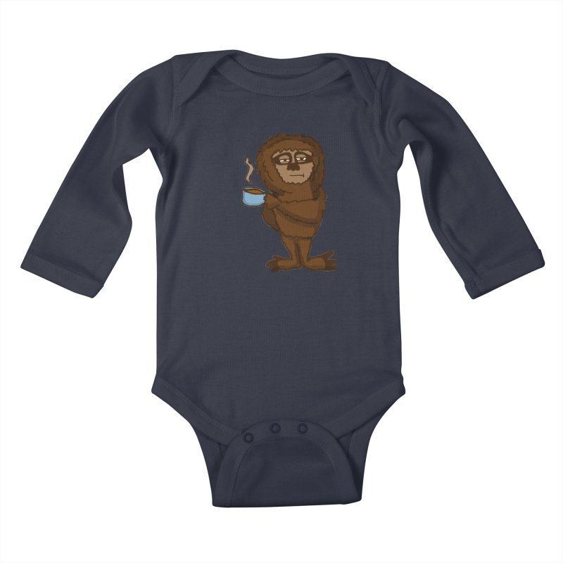 Groggy Sloth  Kids Baby Longsleeve Bodysuit by ericallen's Artist Shop