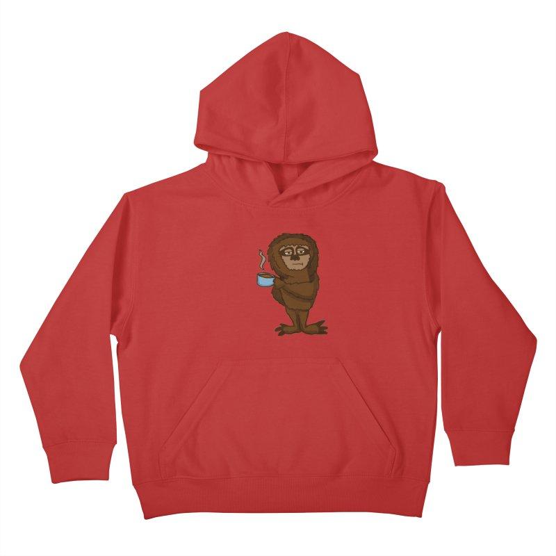 Groggy Sloth  Kids Pullover Hoody by ericallen's Artist Shop