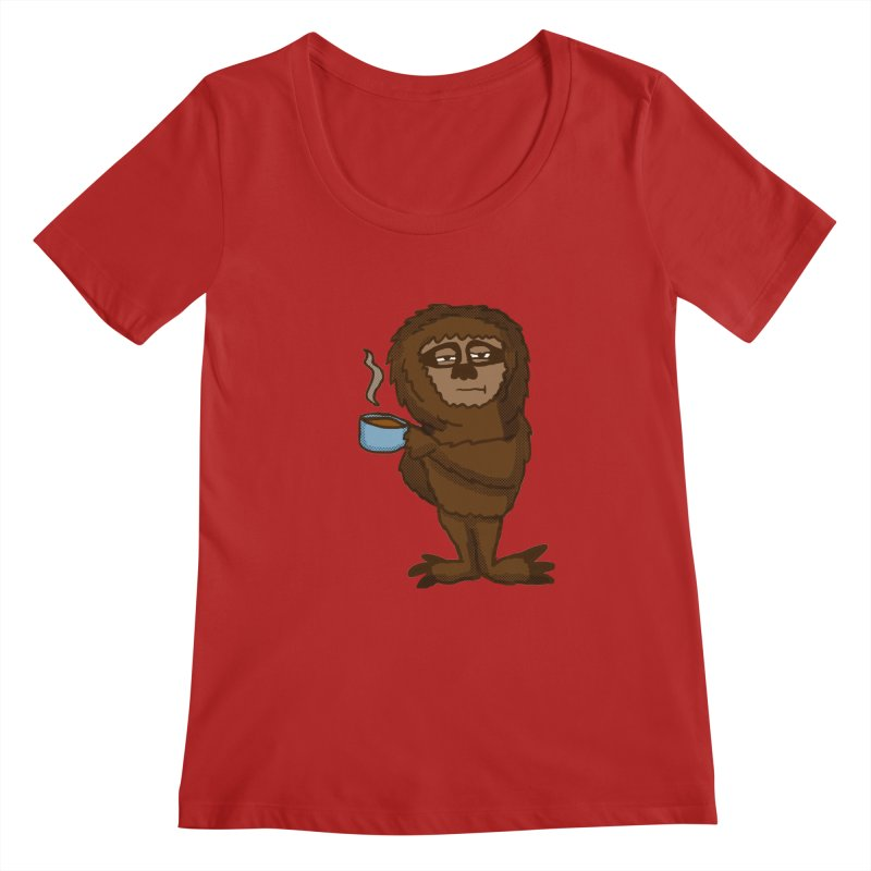 Groggy Sloth  Women's Scoopneck by ericallen's Artist Shop