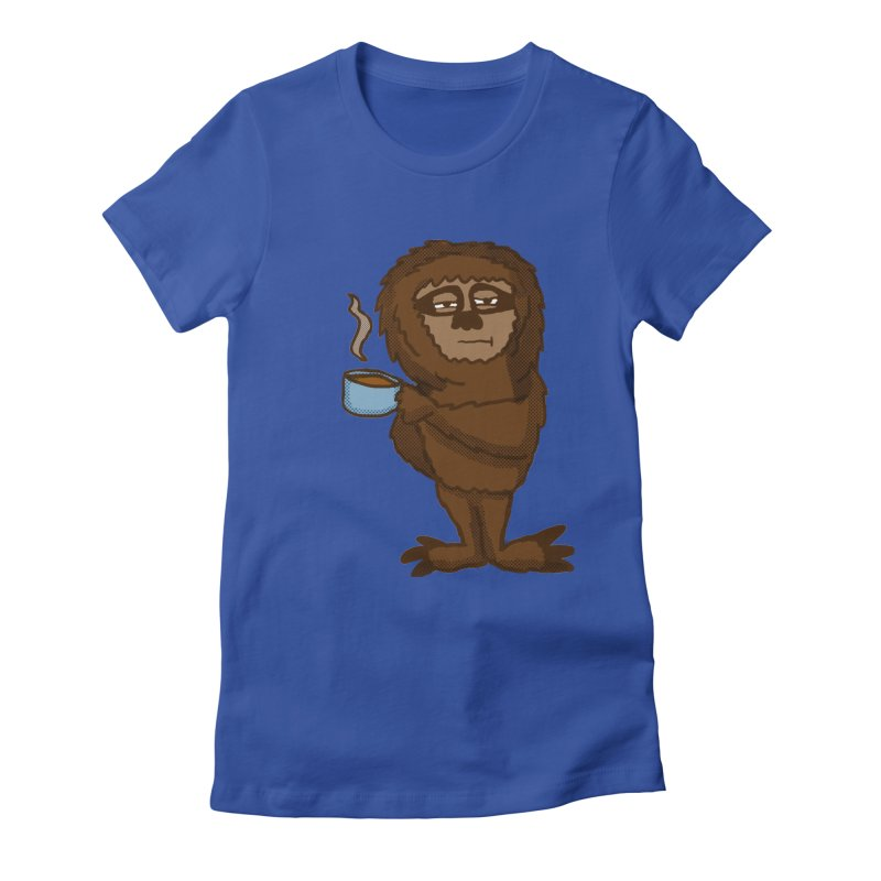 Groggy Sloth  Women's Fitted T-Shirt by ericallen's Artist Shop