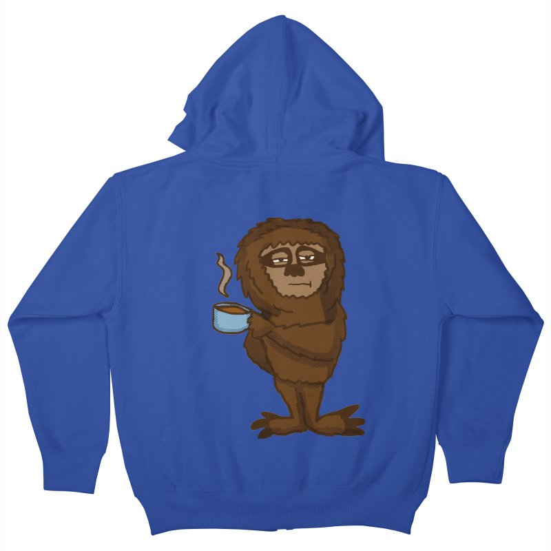 Groggy Sloth  Kids Zip-Up Hoody by ericallen's Artist Shop