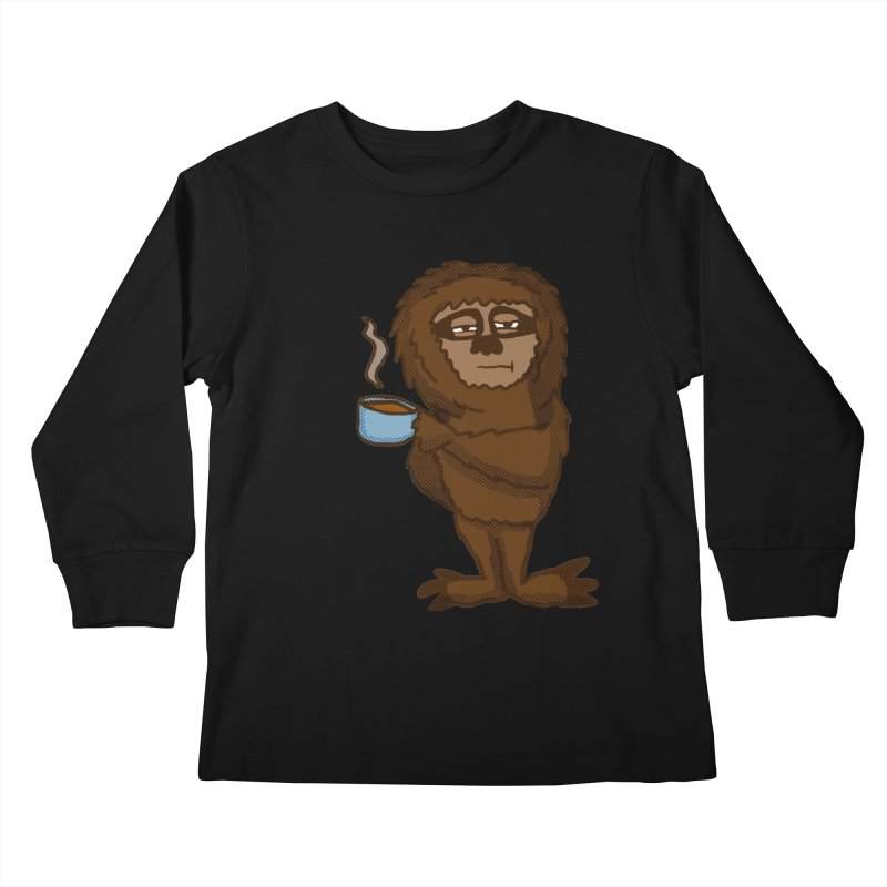 Groggy Sloth  Kids Longsleeve T-Shirt by ericallen's Artist Shop