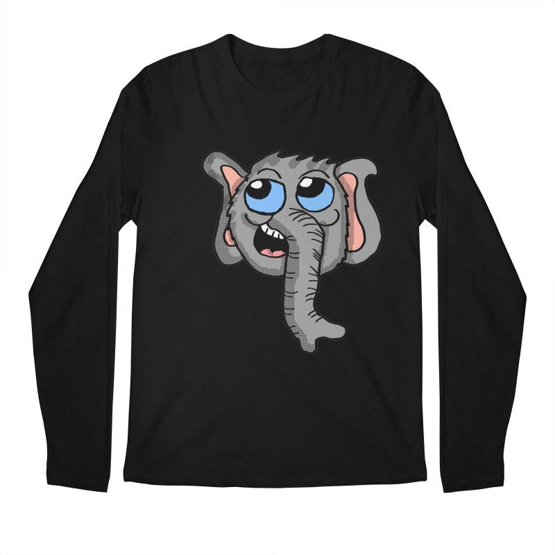 Cute Elephant Head  Men's Longsleeve T-Shirt by ericallen's Artist Shop