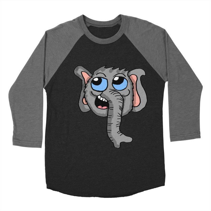 Cute Elephant Head  Women's Baseball Triblend T-Shirt by ericallen's Artist Shop
