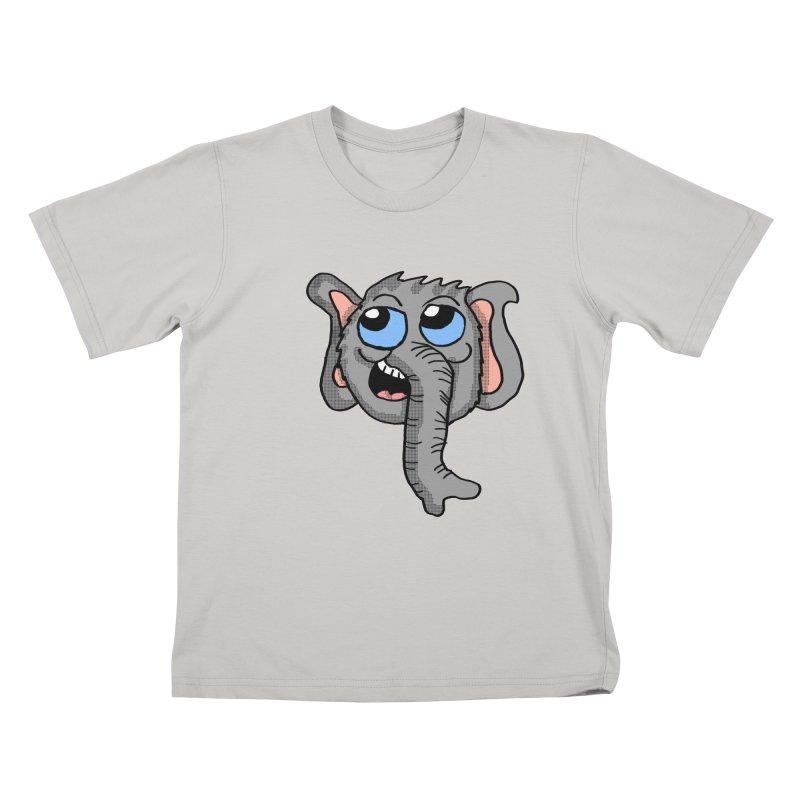 Cute Elephant Head  Kids T-shirt by ericallen's Artist Shop