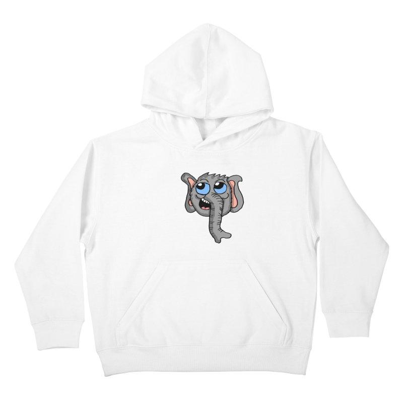 Cute Elephant Head  Kids Pullover Hoody by ericallen's Artist Shop