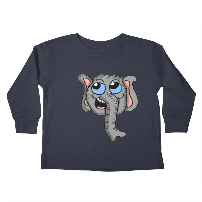 Cute Elephant Head  Kids Toddler Longsleeve T-Shirt by ericallen's Artist Shop