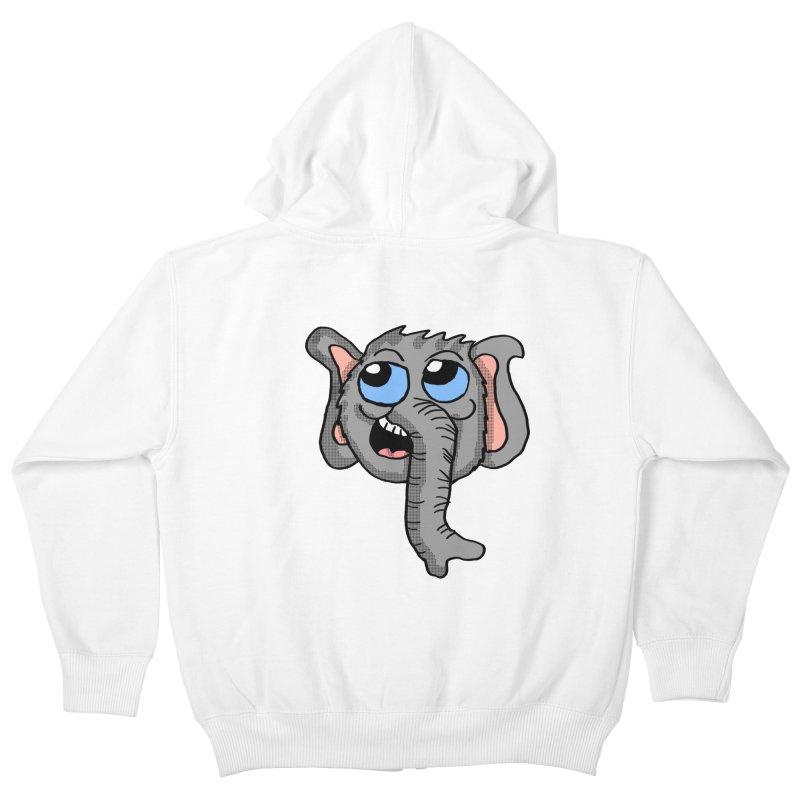 Cute Elephant Head  Kids Zip-Up Hoody by ericallen's Artist Shop