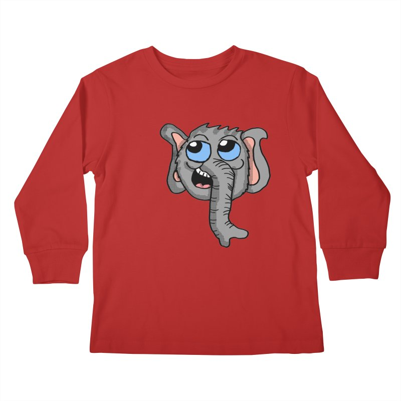 Cute Elephant Head  Kids Longsleeve T-Shirt by ericallen's Artist Shop