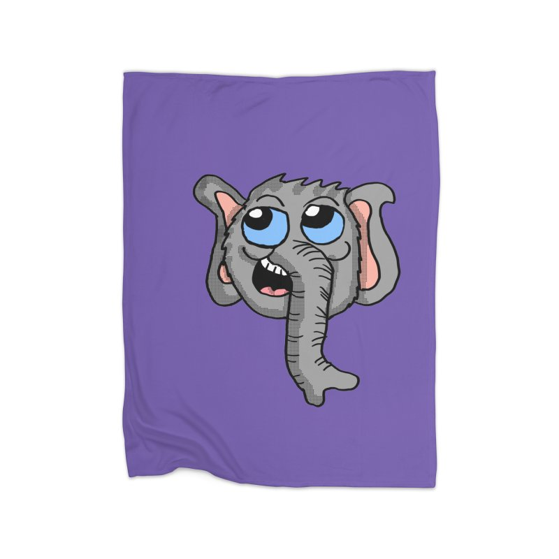 Cute Elephant Head  Home Blanket by ericallen's Artist Shop