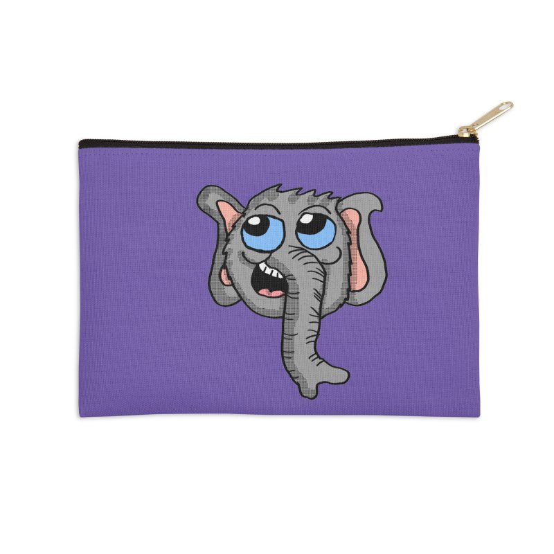 Cute Elephant Head  Accessories Zip Pouch by ericallen's Artist Shop