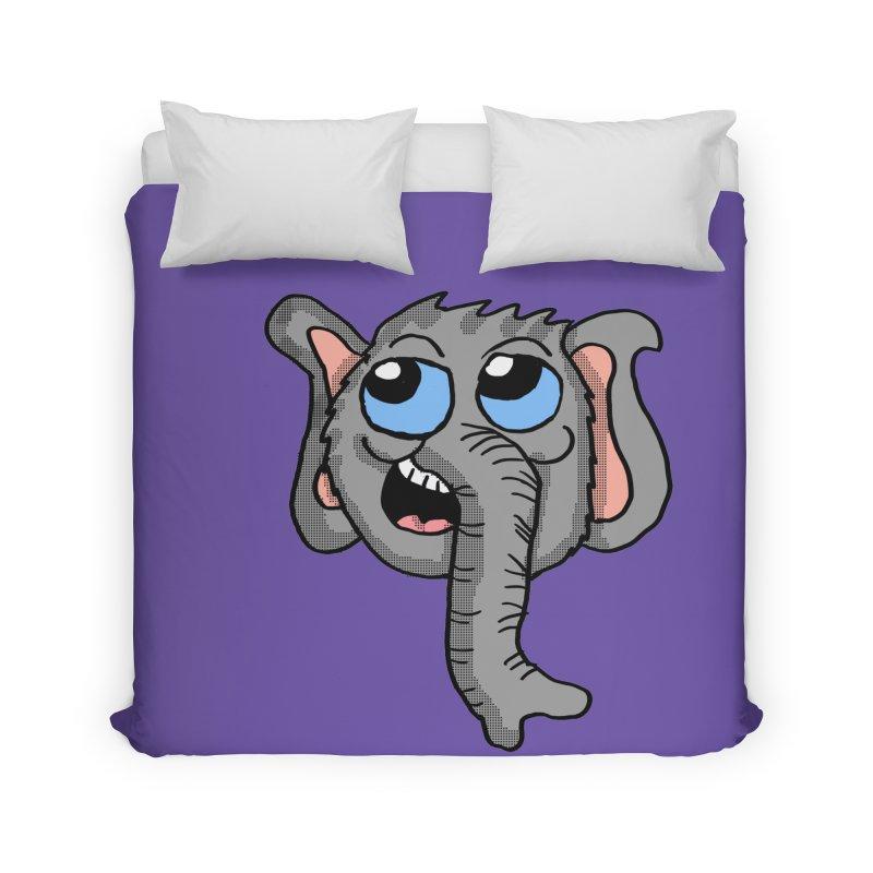 Cute Elephant Head  Home Duvet by ericallen's Artist Shop