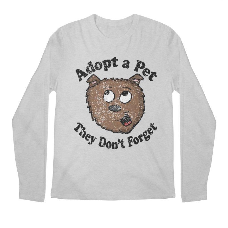 Vintage Adopt A Pet  Men's Longsleeve T-Shirt by ericallen's Artist Shop