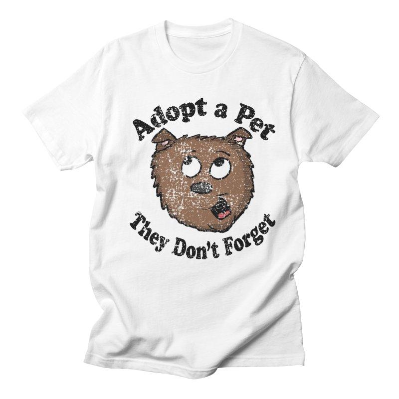 Vintage Adopt A Pet  in Men's T-shirt White by ericallen's Artist Shop