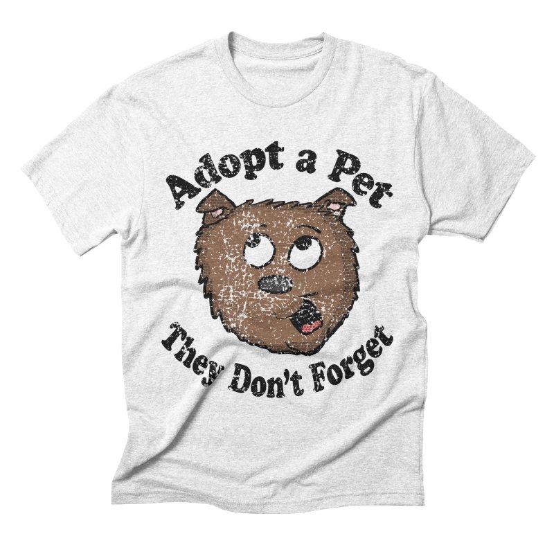 Vintage Adopt A Pet  Men's Triblend T-shirt by ericallen's Artist Shop