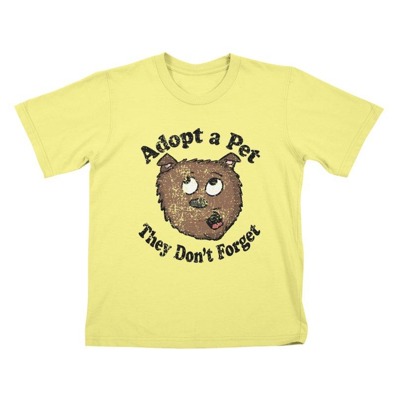Vintage Adopt A Pet  Kids T-shirt by ericallen's Artist Shop