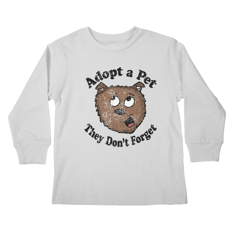 Vintage Adopt A Pet  Kids Longsleeve T-Shirt by ericallen's Artist Shop