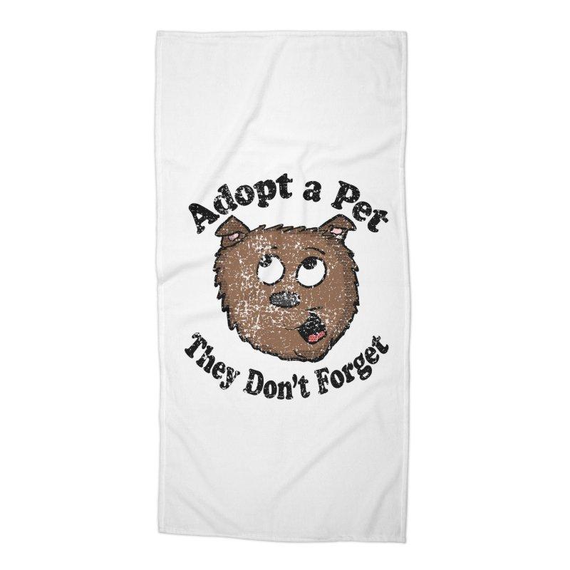 Vintage Adopt A Pet  Accessories Beach Towel by ericallen's Artist Shop