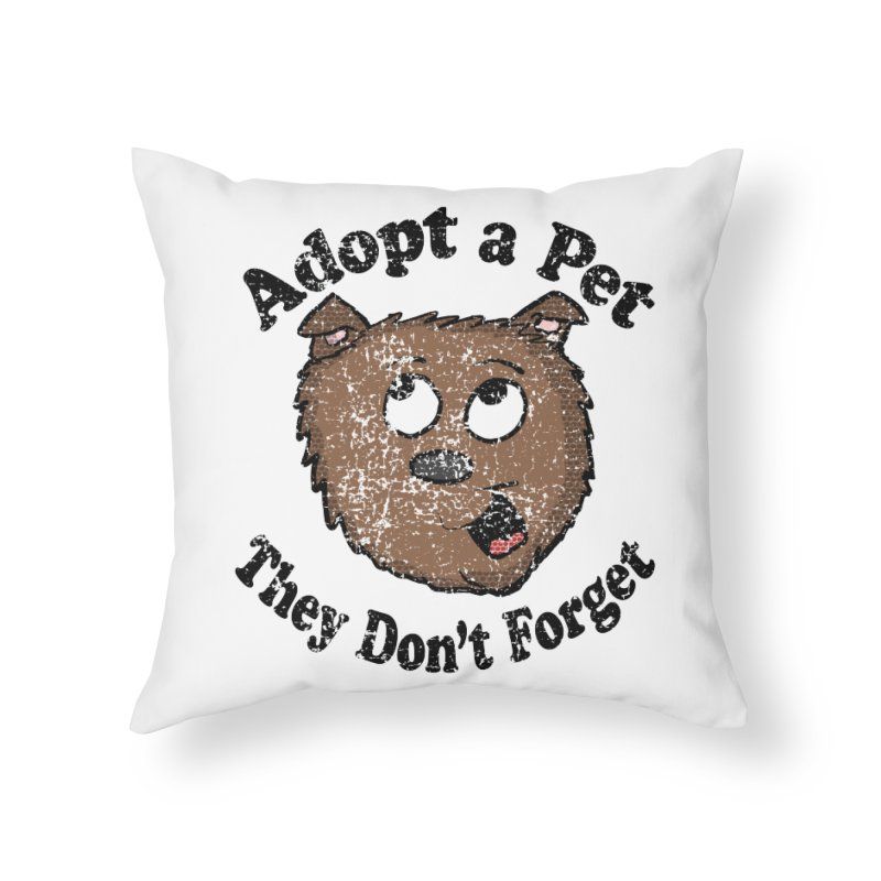 Vintage Adopt A Pet  Home Throw Pillow by ericallen's Artist Shop