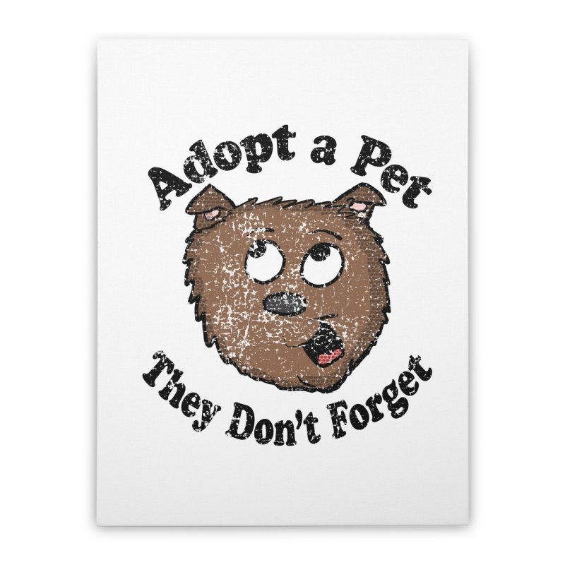 Vintage Adopt A Pet  Home Stretched Canvas by ericallen's Artist Shop