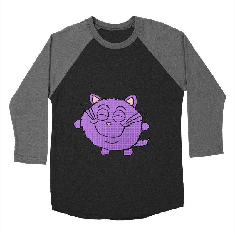 Chibi Happy Cat  Women's Baseball Triblend T-Shirt by ericallen's Artist Shop