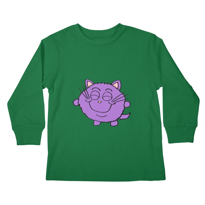 Chibi Happy Cat  Kids Longsleeve T-Shirt by ericallen's Artist Shop