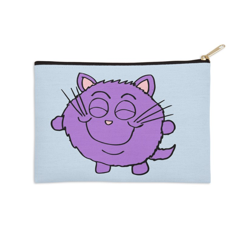 Chibi Happy Cat  Accessories Zip Pouch by ericallen's Artist Shop