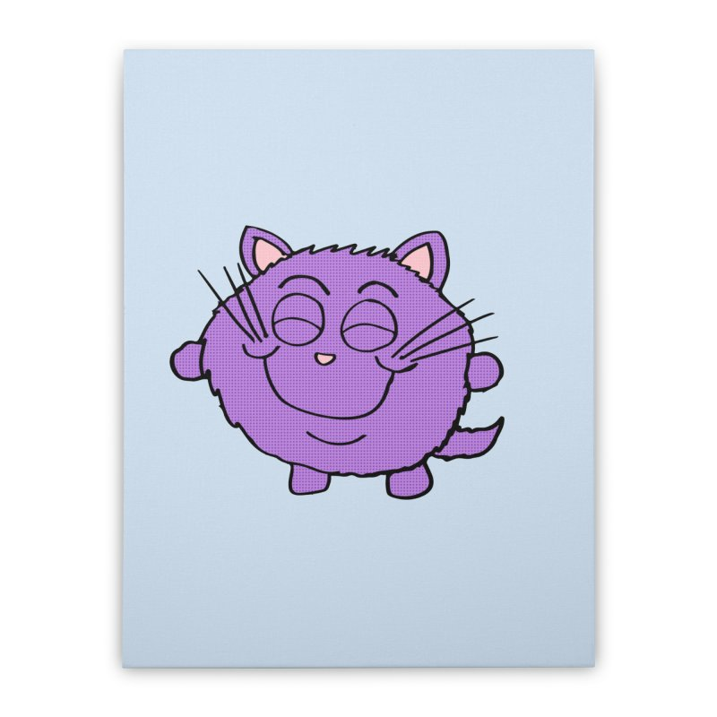 Chibi Happy Cat  Home Stretched Canvas by ericallen's Artist Shop