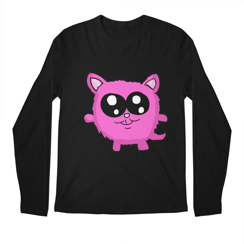 Kawaii Pink Kitty Men's Longsleeve T-Shirt by ericallen's Artist Shop
