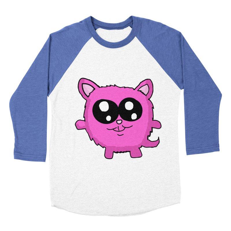 Kawaii Pink Kitty Women's Baseball Triblend T-Shirt by ericallen's Artist Shop