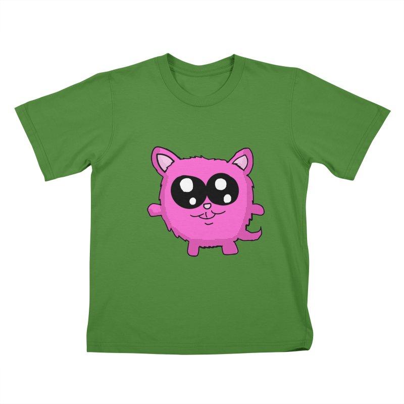 Kawaii Pink Kitty Kids T-shirt by ericallen's Artist Shop