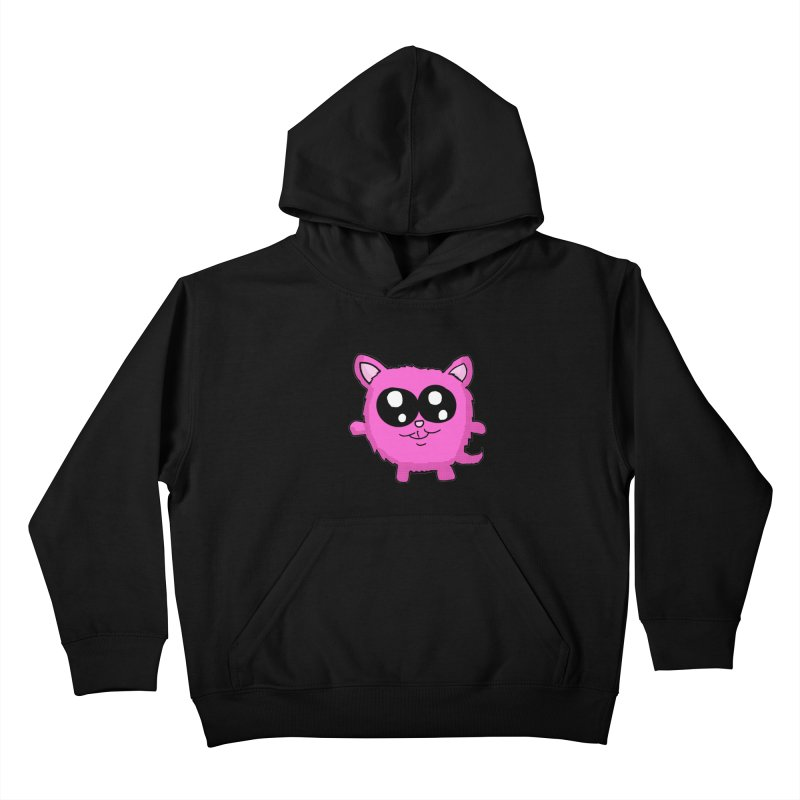 Kawaii Pink Kitty Kids Pullover Hoody by ericallen's Artist Shop