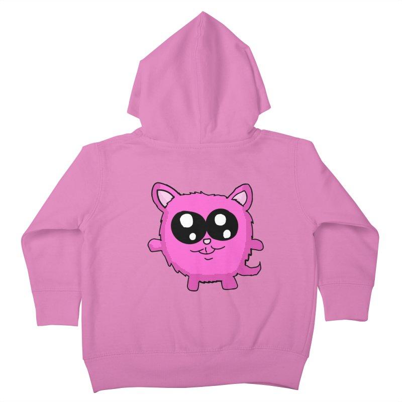 Kawaii Pink Kitty Kids Toddler Zip-Up Hoody by ericallen's Artist Shop