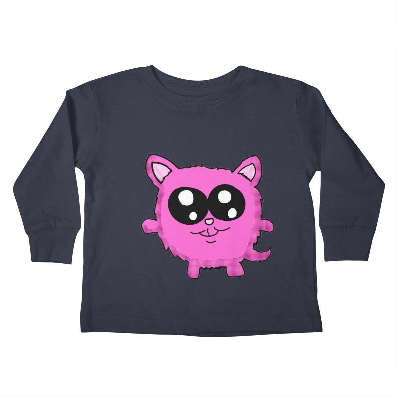 Kawaii Pink Kitty Kids Toddler Longsleeve T-Shirt by ericallen's Artist Shop