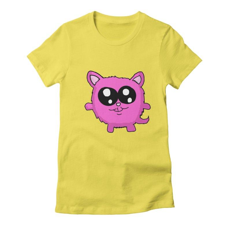 Kawaii Pink Kitty Women's Fitted T-Shirt by ericallen's Artist Shop