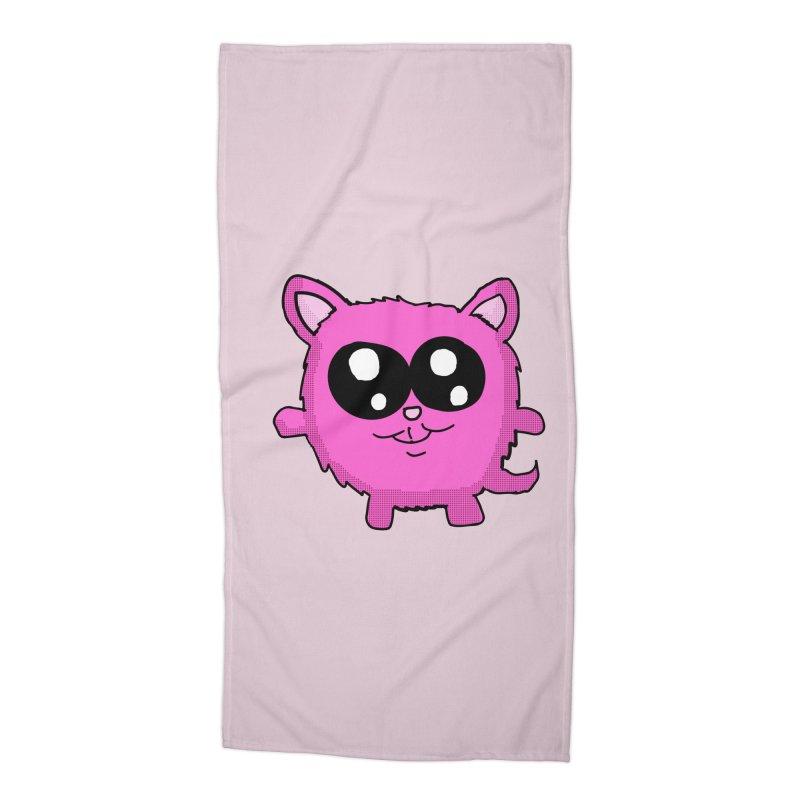 Kawaii Pink Kitty Accessories Beach Towel by ericallen's Artist Shop